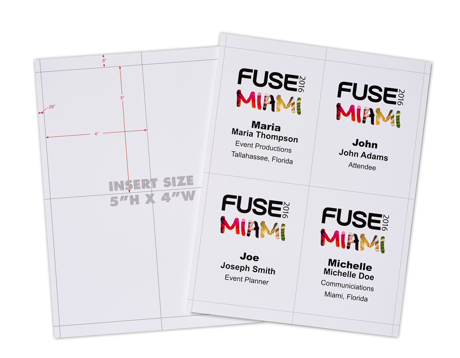 5 4 up laser paper for printing name badges