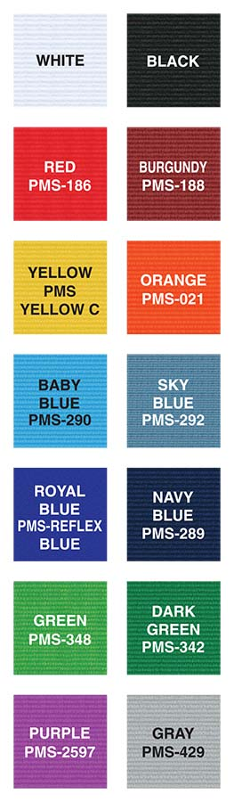 Silk Screen LANYARD COLOR SWATCHES (2)