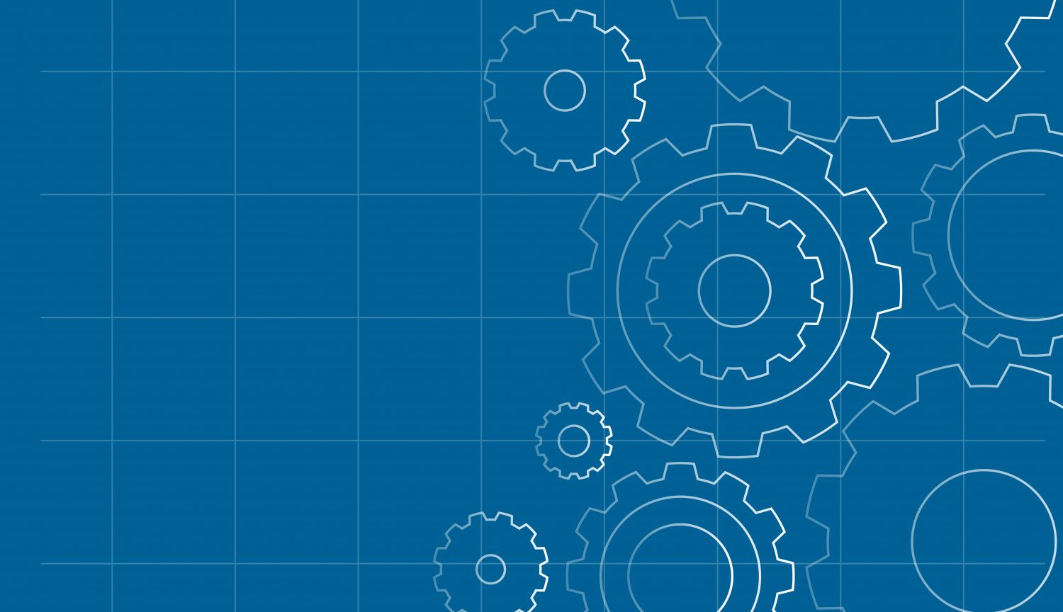 Gears on Blue Background Template