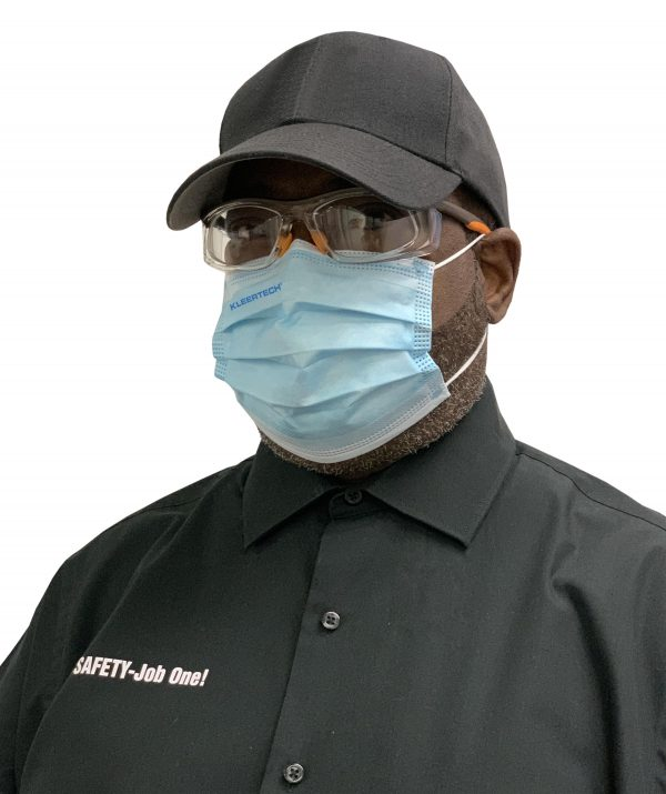 Man Wearing Cap and Face Mask
