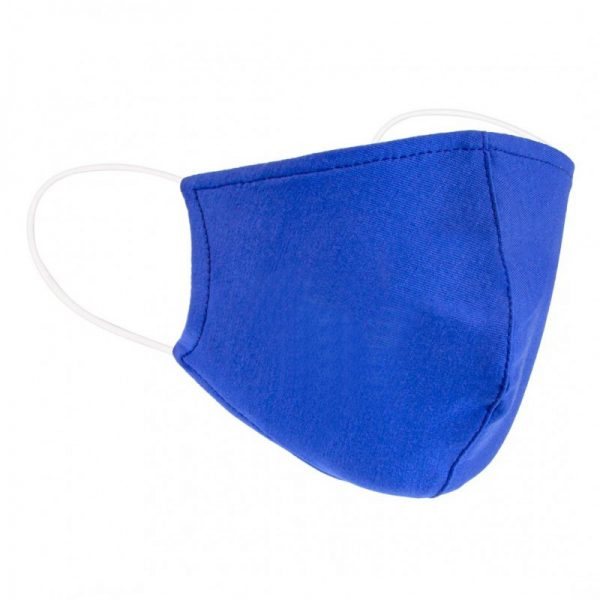 Blue Form Fitted Cotton Mask
