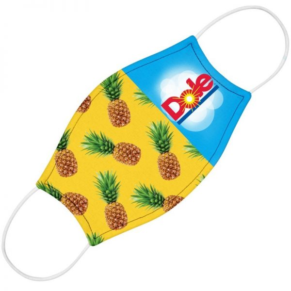 Cloth Mask with Pineapple Print