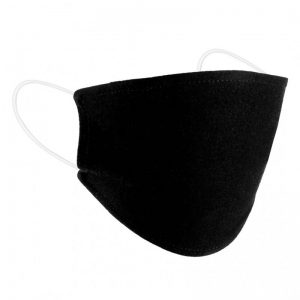 Flat Black Cotton Mask with Filter Insert
